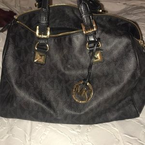 Michael Kors black bowler bag